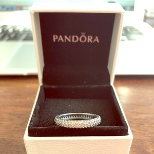 NIB Pandora Stackable CZ Ring